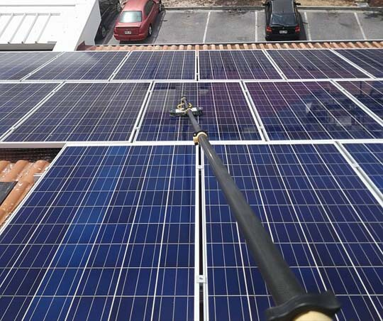 Solar-cleaning