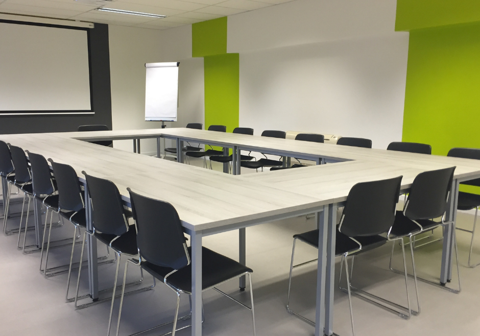 Board Room Electrical Lighting and Projector Screen